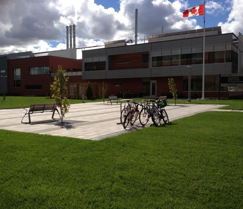 2012 - Commercial Construction- multi-residential & industrial - Over $250,000 - Innovative precast paver patio and site furnishings including bike racks and benches