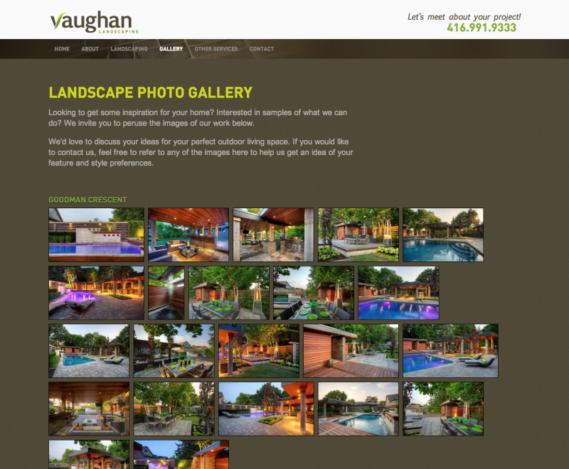 2012 - Web Sites  - Gallery Page Screen Shot