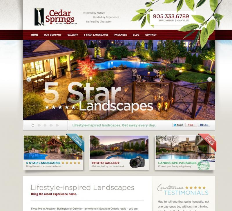2012 - Web Sites  - Home Page