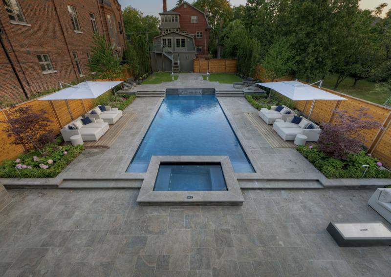 2012 - Residential Construction - $500,000 - $1,000,000 - Full pool day shot