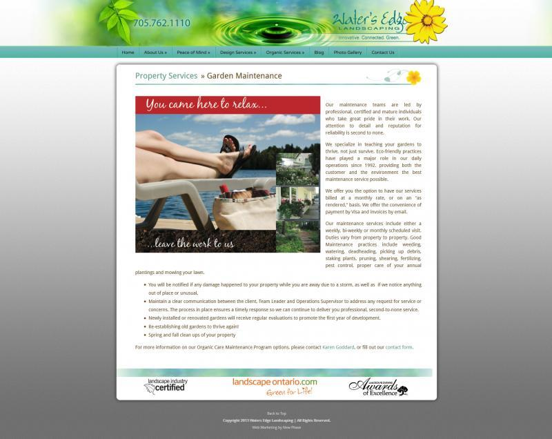 2013 - Web Sites  - Sample Service page