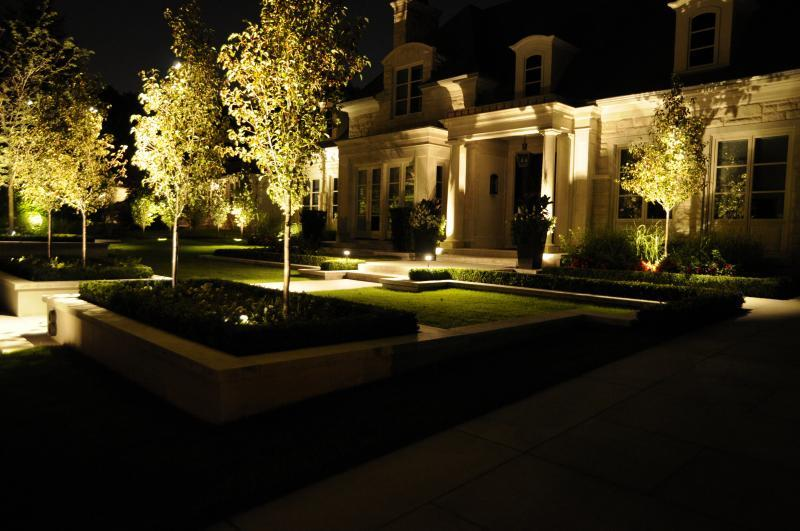 2013 - Landscape Lighting Design & Installation - Over $30,000 - Front Yard Entrance - Highlighting Front Yard Trees
