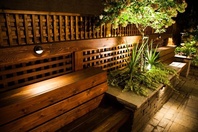 2013 - Landscape Lighting Design & Installation - Over $30,000 - Bench in kitchen area
