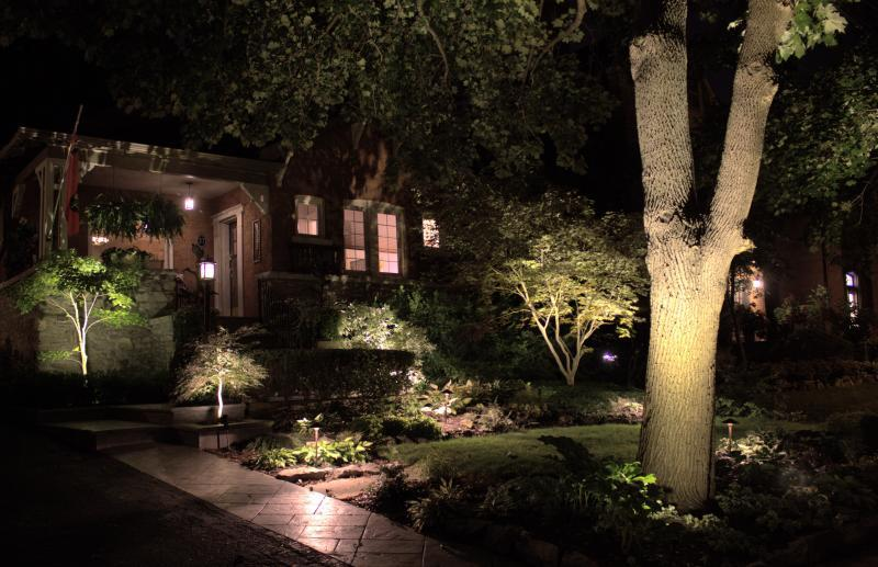 2014 - Landscape Lighting Design & Installation - Under $10,000 - close up of front  of house