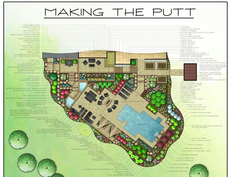 2014 - Private Residential Design - 5000 sq ft or more - MAKING THE PUTT - board 3