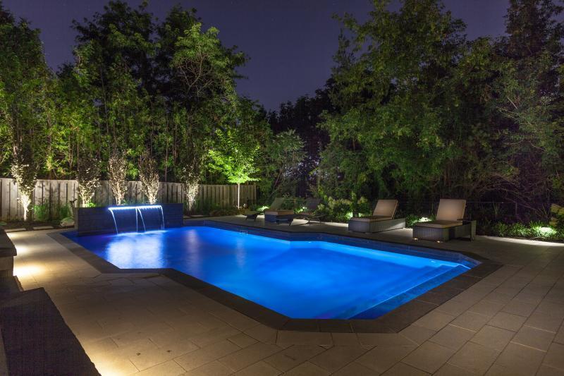2014 - Landscape Lighting Design & Installation - Under $10,000 - Pool (Night)
