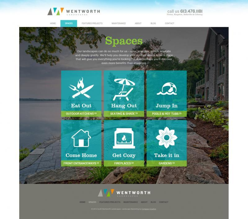 2014 - Web Sites  - Navigation to Different Landscape Experiences