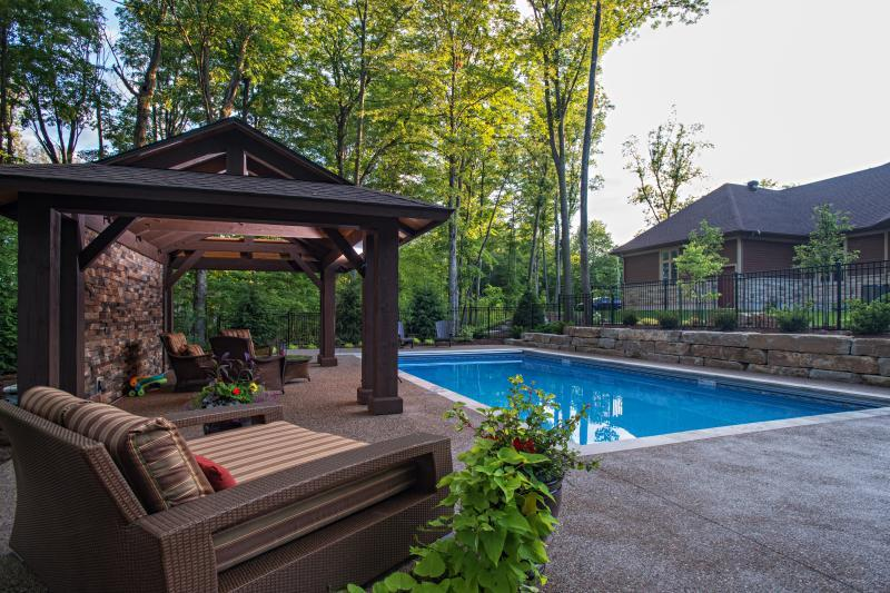 2014 - Residential Construction  - $100,000 - $250,000 - Covered Poolside Sitting Space and Armour Stone Retaining Wall