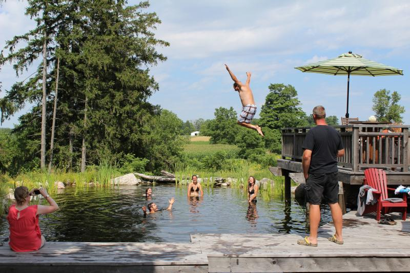 2015 - Residential Construction  - $100,000 - $250,000 - Summer fun in the swim pond