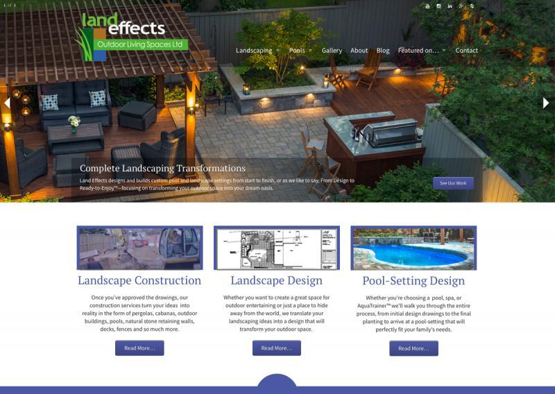 2016 - Web Sites  - Land Effects Home Page Detail