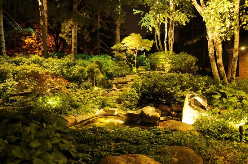 2016 - Landscape Lighting Design & Installation - $10,000 - $30,000 - Front Yard Pond & Water Feature