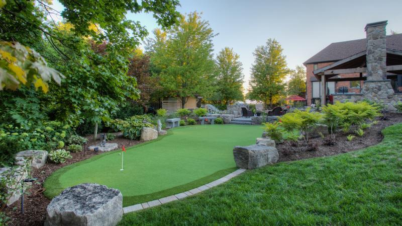 2016 - Residential Construction  - $100,000 - $250,000 - Putting green from back