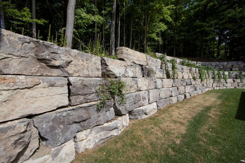 2016 - Special Interest Construction  - Armour Stone retaining wall