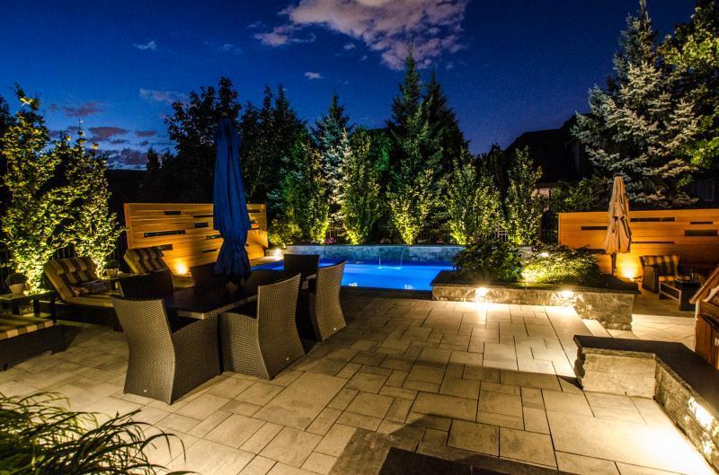 2016 - Landscape Lighting Design & Installation - Under $10,000 - dining and louging area