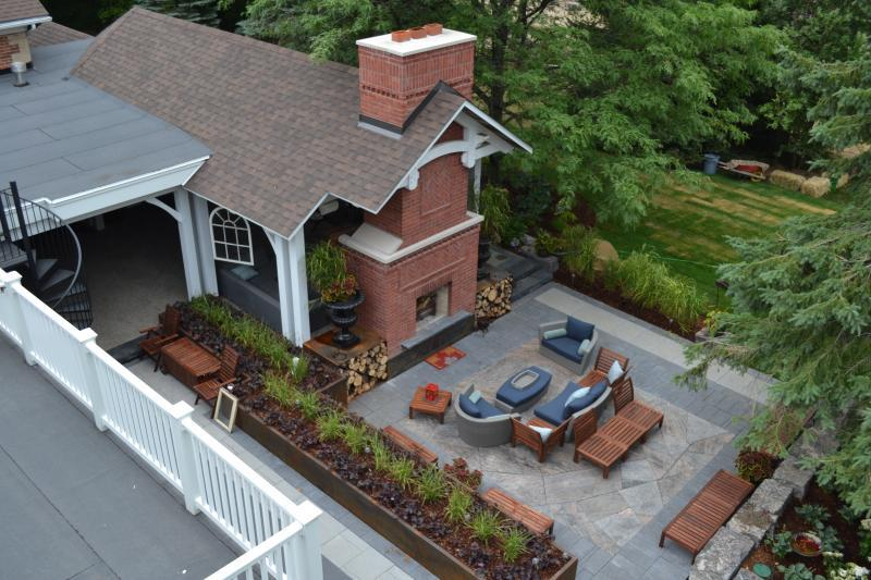 2016 - Residential Construction - $250,000 - $500,000 - Arial View of Main seating area and structure