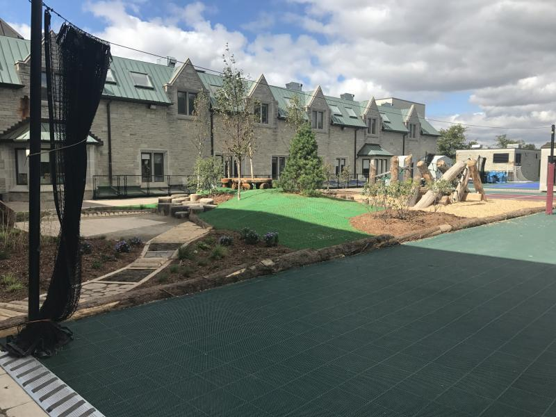 2017 - Commercial Construction - multi-residential & industrial - $100,000 - $250,000 - After - Sensory Path and Lawn