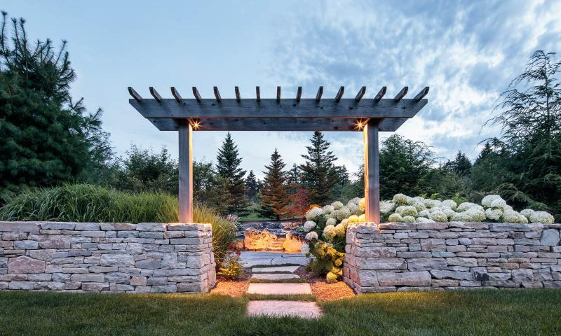 2017 - Residential Construction  - $100,000 - $250,000 - Drystone wall entrance to pond seating area