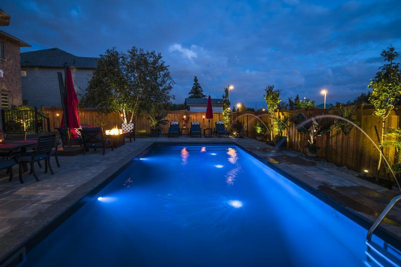 2017 - Landscape Lighting Design & Installation - Under $10,000 - Perspective of pool and landscape lighting