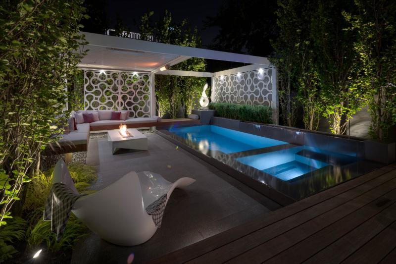 2018 - Landscape Lighting Design & Installation - $10,000 - $30,000 - overview of rear yard