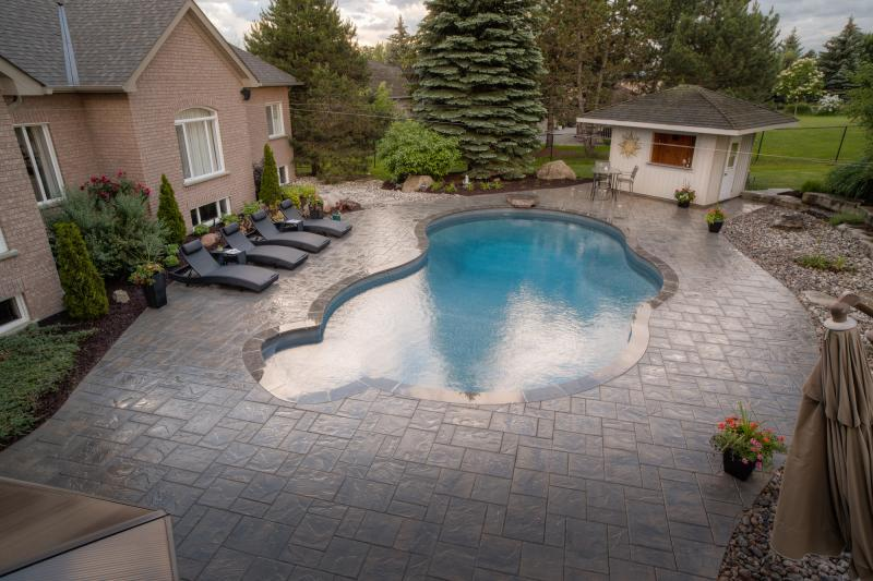 2018 - Residential Construction - $50,000 - $100,000 - Overhead view of pool