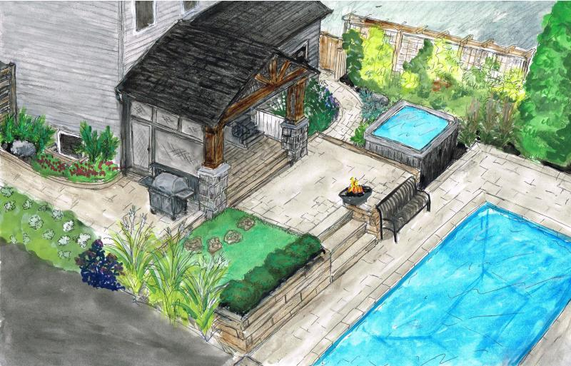 2018 - Private Residential Design - 2500 to 5000 sq ft - Concept Sketch