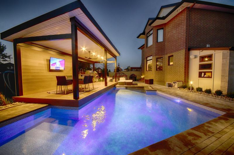 2018 - Residential Construction  - $100,000 - $250,000 - View from back corner of pool, raised covered deck
