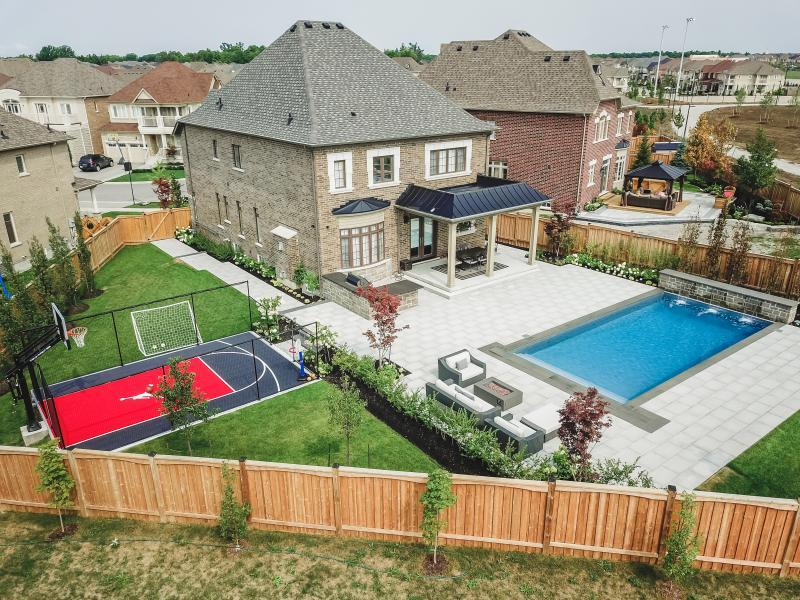 2018 - Residential Construction - $250,000 - $500,000 - Aerial View of rear yard