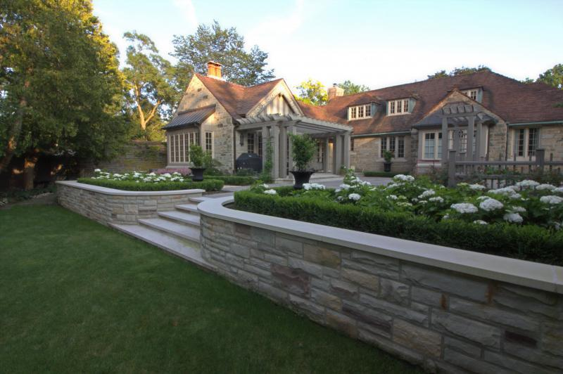 2019 - Residential Construction  - $100,000 - $250,000 - matching the stone wall to the house was a bit of a challenge. It led us on a goose chase to  several stone yards and picking several types of stone  for us to  match the 100 year old of the house.