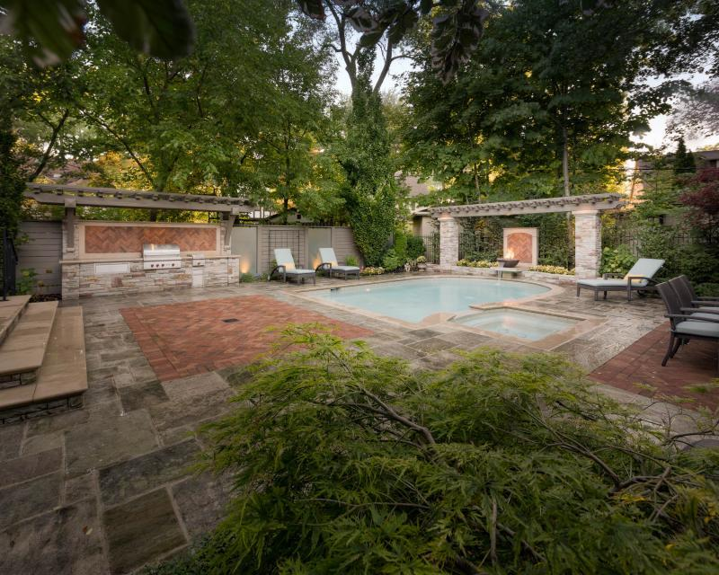 2019 - Residential Construction - $250,000 - $500,000 - Shortening the pool allowed for the creation of more functional entertaining space in the clients' urban Toronto backyard.