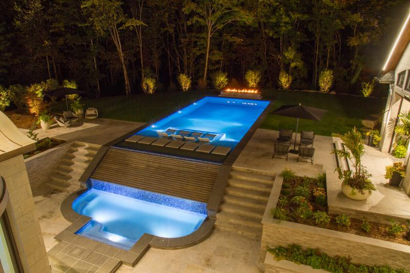 2019 - Residential Construction - $500,000 - $1,000,000 - Pool and patio from upper balcony