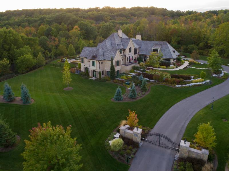 2019 - Private Residential Maintenance - 1 acre or more - aerial view of landscape